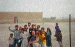 Moon.Me with kids in Iraq